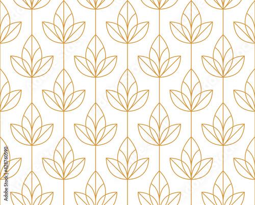 Flower geometric pattern Wallpaper Mural