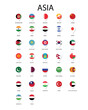 National flag in Asia, Vector pin icon design.