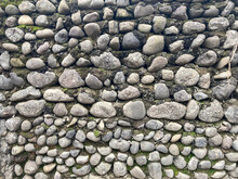 Texture Of A Stone Wall. Old Castle Stone Wall Texture Background. Stone Wall As A Background Or Texture