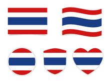 Thailand National Flag Icon