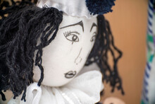 The Face Of Sad Pierrot Doll