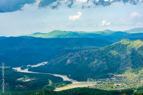 Mountain Altai, view from the observation deck on Mount Malaya Sinyukha Wallpaper Mural