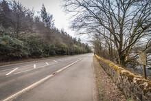 Walking On Derwent Valley Water Board In Peak District UK
