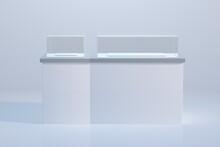 3D Rendering Glass-frame Cabinet