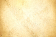 Aged Texture Of Old Vintage Brown Parchment Paper, Can Be Use As Abstract Background, Wallpaper,  Webpage, Copy Space For Text.