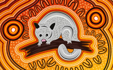 Possum Aboriginal Painting