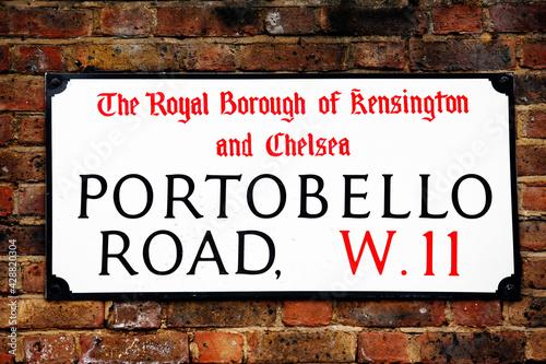 London Street Sign, Portobello Road #428820304