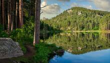 Early Morning At Horse Thief Lake In South Dakota Near Mount Rushmore