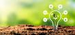 Leinwandbild Motiv Renewable, sustainable energy sources concept