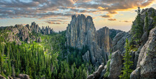 Cathedral Spires In The Black Hills Of Custer State Park South Dakota - Hike From The Needles Scenic Highway