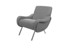 Black And White Modern Accent Armchair Isolated On White Background
