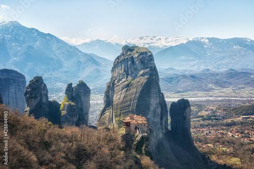 Cuadros en Lienzo Greece, monastery on the rocks in Meteora