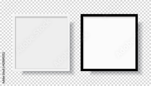 Fototapeta Photo Frame pictures template mockup post banner greeting card collection collage realistic isolated glass for holiday valentine's birthday wedding anniversary balloons luxury modern design. obraz