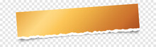 Gold Note Paper Banner With Torn Paper On Transparent Background