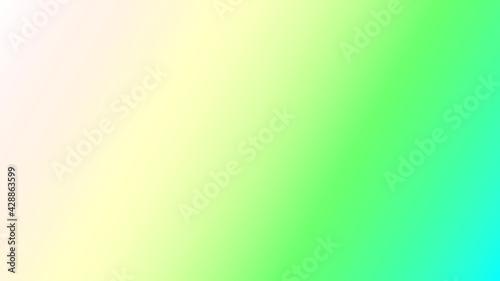 Obraz Zielono niebiesko beżowa ilustracja z nachodzących na siebie kolorów - fototapety do salonu