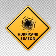 Tornado Icon. Cyclone Yellow Sign. Spiral Tornado. Blow Hurricane. Tropical Storm. Road Warning. Alert Symbol Isolated On Background. Vector Illustration