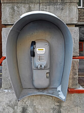 Outdated Urban Payphone