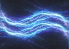 Blue Lightning Background, Plasma Power