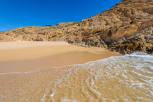 Set Of Pictures Of A Fantastic Ocean Wave In Different Stages. San Jose Del Cabo. Mexico.