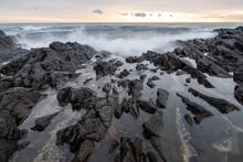 雄武町日の出岬の海岸の風景