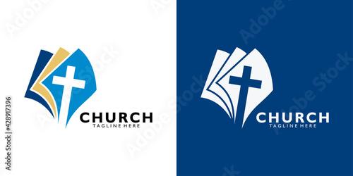 Fototapeta church logo icon vector isolated obraz