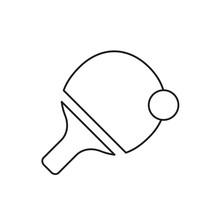 Tennis Ping Pong Icon Design. Vector Illustration