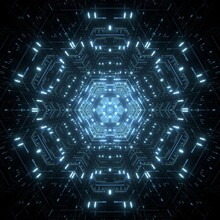 3D Rendered Lighting Technology Background