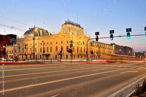 Łódź, Poland- view of the Poznański Palace. - fototapety na wymiar