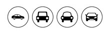 Car Icon Set. Car Vector Icon. Small Sedan