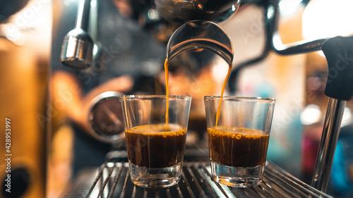Fotografija Espresso in a mug from a home maker