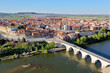 Aerial view of the town of Tordesillas, Spain