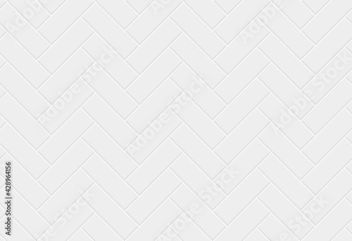 Canvas White ceramic tile herringbone seamless pattern