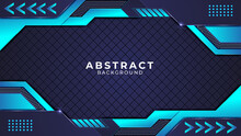 Abstract Modern Shape And Gradient  Metallic Background With Cyan Color Circuits, Dark Cyan Color Shapes, Metallic Shapes, Glow And Light Effect And Can Be Used For Wallpaper, Banner, Decoration.