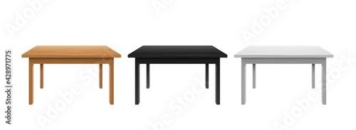 Billede på lærred Writing and office tables template