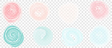 Set Of Pink And Blue Translucent Textures On An Isolated Background For The Cover And Splash. Spring Templates For Greeting Card For Easter And Mother's Day.