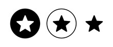 Star Icons Set. Star Vector Icon. Rating Symbol