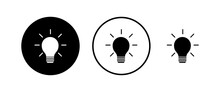 Lamp Icons Set. Light Bulb Icon Vector. Idea Vector Icon