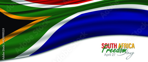 Fotografie, Obraz Vector Illustration of South Africa Freedom Day, which is celebrated on 27 April