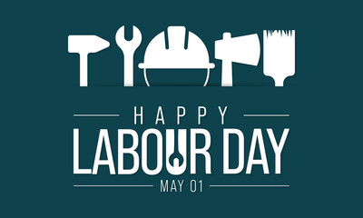 Labour day is observed every year on May 1st, it is an annual holiday to celebrate the achievements of workers. Vector illustration.