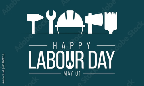 Fotografie, Tablou Labour day is observed every year on May 1st, it is an annual holiday to celebrate the achievements of workers