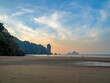 canvas print picture Sunset in Ao Nang Krabi province