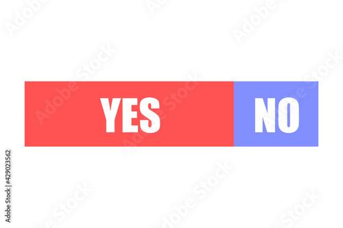 Fotografija YESとNOのグラフ