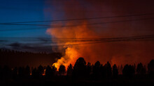 Wildfire Burns In Oregon Forest
