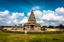 Shore Temple Built By Pallavas Is UNESCO`s World Heritage Site Located At Mamallapuram Or Mahabalipuram In Tamil Nadu, South India.