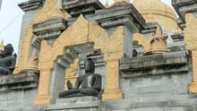 Sandstone Pagoda, Wat Pa Kung Temple In Roi Et Province, Thailand (Wat Prachakom Wanaram-Pahkoong)