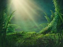 Magic Forest Background