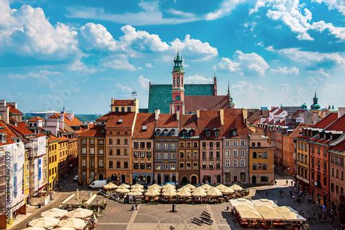 Market square in Warsaw - fototapety na wymiar