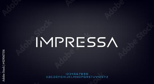Abstract modern minimal alphabet fonts.Typography urban style for fun, sport, technology, fashion, digital, future game, logo new design 2021 elegant creative. - fototapety na wymiar