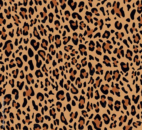 Valokuvatapetti Abstraction leopard seamless pattern, trendy print