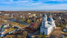 A Beautiful Russian Orthodox Church Hidden In A Small Village In The Kubenskoye Rural Settlement Of The Vologda Region